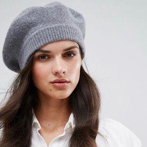 ASOS Glamorous Gray Wool Beret Like New